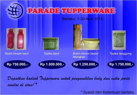 Parade Tupperware Promo Body Mika parts Terania